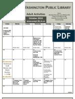 WWPL October 2010 Events Calendar