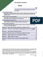 Photo Multiplier Handbook