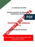Prospecto Proceso Admision ETSPNP 2017 II