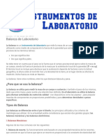 Instrumentos de Laboratorio, Material de Laboratorio, Instrumentos de Medicion_ Balanza de Laboratorio