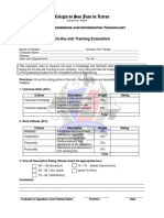 Form 8 - OJT Training Evaluation