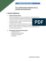 Analisis de La Movilidad Urbana en La Ciudad de Huancayo