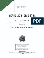 Vaillant 1873 La República Oriental Del Uruguay (América Del Sud) en La Esposición de Viena