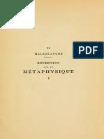 Entretiens Metaphysique I II