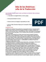 La Biblia de Las Américas - Filosofía de La Traducción