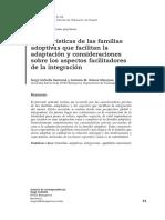 Características de Las Familias Adoptivas Que Facilitan La Adaptación y Consideraciones Sobre Los Aspectos Facilitadores de La Integración
