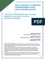 3. a Diferenciação Curricular e o Desenho Universal Na Aprendizagem Como Princípios Para a Inclusão Escolar