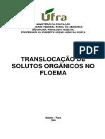 AULAS de FISIOLOGIA VEGETAL - Translocação de Solutos Orgânicos Em Plantas