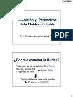 Definición y Parámetros de La Fluidez
