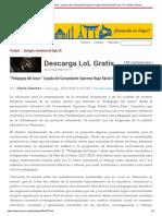 """""""Pedagogía del Amor""""_ Legado del Comandante Supremo Hugo Rafael Chávez Frías - Por_ Marta Sánchez.pdf"""