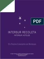 Placa Hotel Intersur Nuevo Concepto en Hoteles