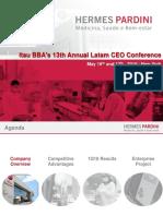 Itau BBA's 13th Annual Latam CEO Conference NY - May 2018
