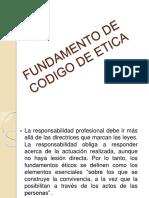 Fundamento de Codigo de Etica Diapositiva