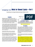 Designing Fillet Welds for Skewed T-Joints Part-1
