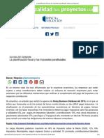 La Planificación Fiscal y Los Impuestos Parafiscales _ Banca y Negocios
