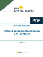 Cálculo Do Desconto Aplicado à TUSDTUST Algébrico - Versão 1.0.1