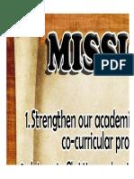 Vision Mission Philosophy Core Values