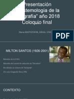 Aportes principales de Milton Santos a la geografía
