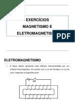 Exercícios 1 Magnetismo e Eletromagnetismo Respostas