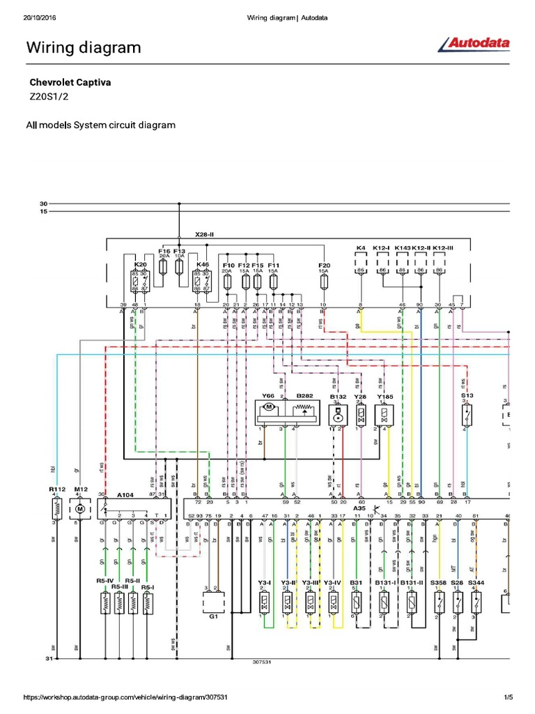Chevrolet Captiva 20vcdi Motor Z20s1 127hp Citroen C8 Abs Wiring Diagram