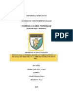 INFLUENCIA DE LA INFORMALIDAD DE LOS COMERCIANTES EN LA RECAUDACIÓN TRIBUTARIA EN EL MERCADO MODELO HUÁNUCO