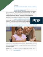Trastornos en Niños Con TDAH Severa