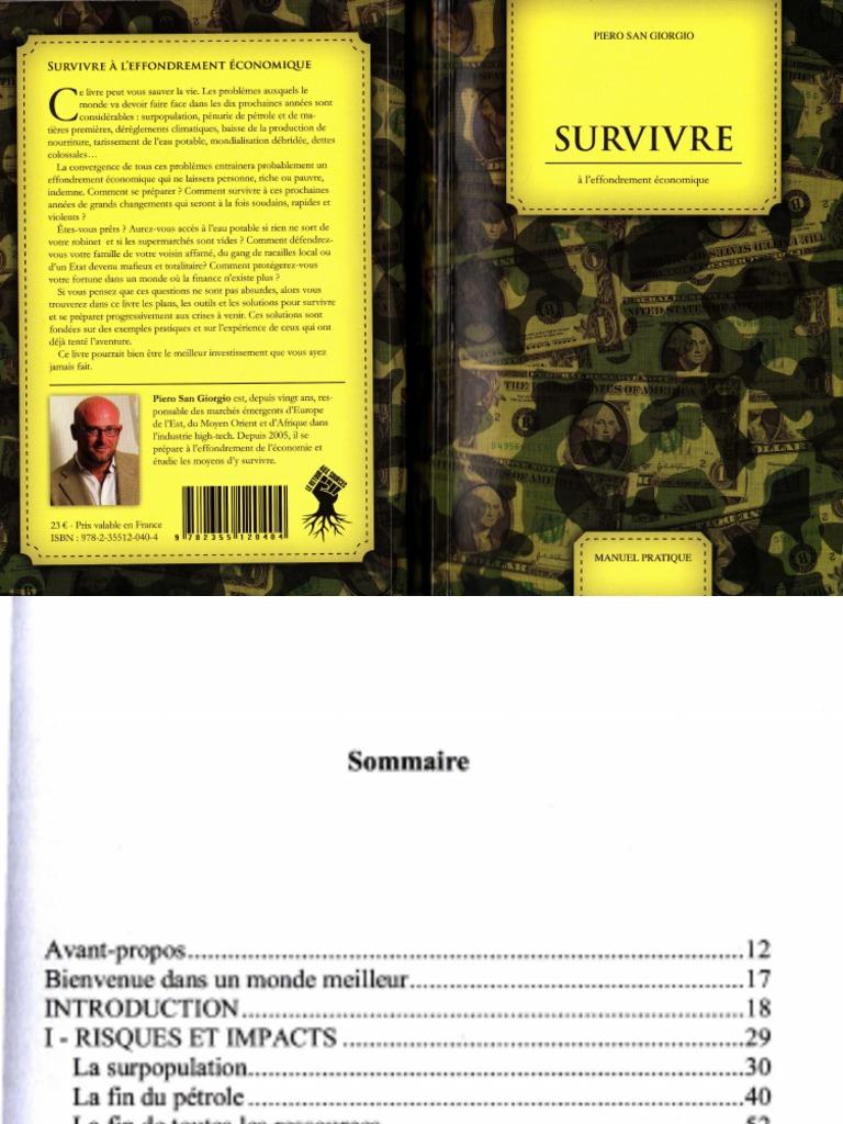 Piero San pdf Survivre À Giorgio Économique L'effondrement 3jRq54cAL