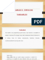 Variable y Tipos de Variables
