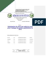 05 10 00 00 Optimisation du choix des outils de coupe pour l'usinage des poches quadrilatères en 2D½