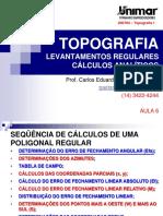 200784-TOPOGRAFIA I - AULA 06 - Levantamentos Regulares.pdf