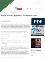 Stratfor sentencia la defunción geopolítica de México SCJM