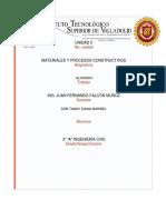 Glosario Tema 5; Partida Albañilería y Estructura