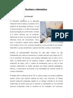 Escritura e Informática por Yasmina Mendieta Grenald