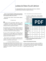 Informe Lectura Excel