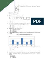 Examen de Matemática y Comunicacion