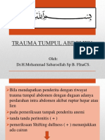 Trauma Tumpul Abdomen (Dr Sabar Sp.b)