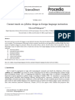 Current Trends on Syllabus Design in Foreign Language Instruction