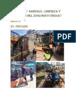 """Proyecto :"""" arreglo , limpieza y promoción del zoológico """""""