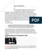 19011969 History of Philippine Constitutions
