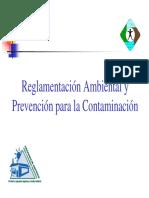 Reglamentación Ambiental y Prevención Para La Contaminación