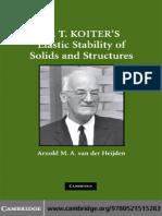 Arnold M. a. Van Der Heijden - W. T. Koiter's Elastic Stability of Solids and Structures (2008, Cambridge University Press)
