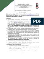 Educacao Edital Mestrado 2019