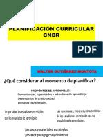 Planificación Curricular Cnbr