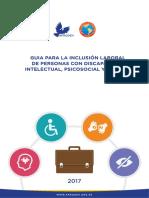 Guia Para La Inclusion Laboral de Personas Con Discapacidad Intelectual Psicosocial y Autismo