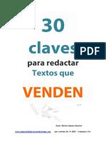 30 Claves Para Redactar Textos Que Venden