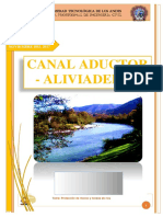 Canal Aductor - Aliviadero