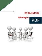BSBADM502+Learner+Workbook+V1.5 manage meeting (1)