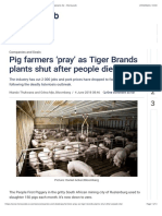 Pig Farmers 'Pray' as Tiger Brands Plants Shut After People Die - Moneyweb