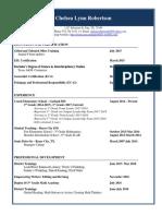 chelsea resume 2018