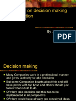Case Study on Decisions